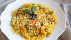Try this easy peasy one-pot Vegetable Pilaf. One pot rice dish mixed with a vari… Try this easy peasy one-pot Vegetable Pilaf. One pot rice dish mixed with a variety of vegetables and mildly flavored with spices. A perfect meal for busy evenings Paneer Recipes, Curry Recipes, Indian Food Recipes, Vegetable Recipes, Vegetarian Recipes, Cooking Recipes, Healthy Recipes, Snack To Go, Recipes