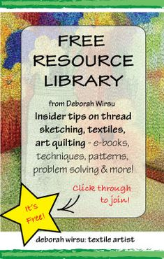 Free Resource Library from Deborah Wirsu - sign up to join for access to free resources to help you on your creative journey!