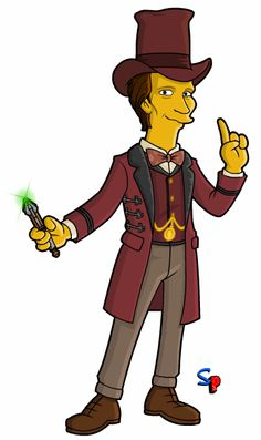 Springfield Punx: Doctor Who, The Doctor in Victorian London. Matt Smith Doctor Who, Doctor Who Companions, Simpsons Characters, Doctor Who Fan Art, Don't Blink, Eleventh Doctor, Dalek, Weird Art, Dr Who