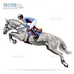 Sport Background Stock Vector - Illustration of isolated, competition: 92700724 Ride Drawing, Drawing Art, Show Jumping Horses, Sports Painting, Horse Illustration, Horse Posters, Horse Logo, Celebrity Drawings, Horse Drawings