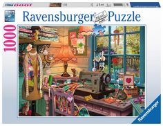 Ravensburger The Sewing Shed 1000 Piece Jigsaw Puzzle for Adults – Every Piece is Unique, Softclick Technology Means Pieces Fit Together Perfectly Thomas Kinkade, Fields Of Gold, Ravensburger Puzzle, Fantasy Images, 5d Diamond Painting, Embroidery Kits, Crystal Embroidery, Schmidt, Oeuvre D'art