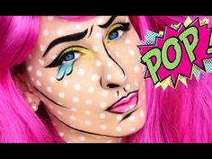 Pop Art Makeup Tutorial - YouTube