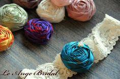 Free ShippingSET Silk Garters by LeAngeBridal on Etsy, $27.00