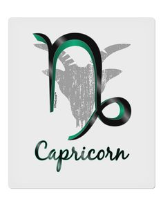 "Capricorn Symbol 9 x 10.5"" Rectangular Static Wall Cling"