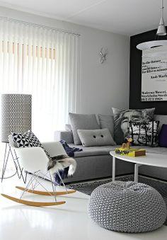 Grey white tones white Eames rar rocker vitra (http://www.cimmermann.co.uk/product/rar_rocking_chair/)