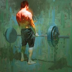 BoldBrush Painting Competition Winner - March 2014 | The Deadlift by David Cheifetz
