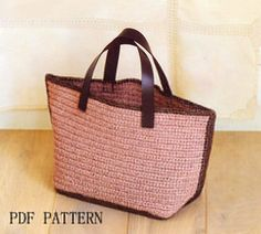 PDF Patternbag patterncrochet summer bag pattern tote by BusyPaws
