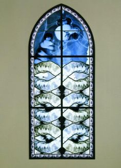 xray, stained glass, macabre