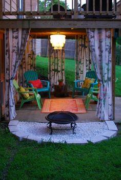 beneath the deck…love this!!! @ Home Design Ideas