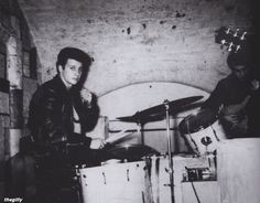 Pete Best at the Cavern Club in Liverpool, mid-1961.