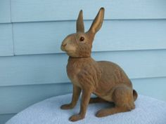 Huge Life Size Antique German Easter Bunny Rabbit Paper Mache Candy Container | eBay