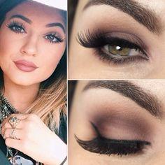 Kylie jenner inspired brown smokey eye make up tutorialx Eye Makeup, Doll Makeup, Kiss Makeup, Hair Makeup, Makeup Brushes, Subtle Makeup, Makeup Geek, Natural Makeup, Makeup Goals