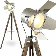 L37 MOJO STEHLAMPE STEHLEUCHTE TRIPOD LAMPE SHABBY CHIC TRIPODLAMPE BAUHAUS CINEMA STATIVLAMPE DREIBEIN KINO LAMPE TISCHLAMPE STATIV-LAMPE H...