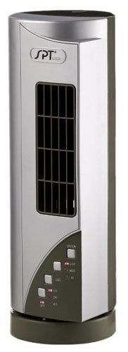 Sunpentown Home Living Room Appliance Mini Tower Fan With Ionizer