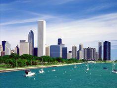 Chicago Skyline Wallpaper | Lake Michigan Chicago Skyline Wallpaper in 1280x960 Resolution
