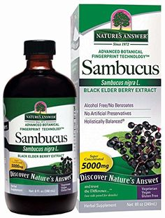 Nature's Answer Alcohol-Free Sambucus Black Elder Berry Extract, 8-Fluid Ounces ** You can find more details by visiting the image link.