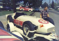 A.J.Watson in california loaded up ready to head to Indy 500 in 1956.