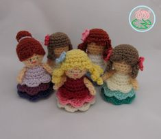 This is a PDF pattern for adorable Mini Amigurumi Princesses with instructions for four types of hairstyles and two variations of dress, one colour or multicolour one. With this pattern the combina...