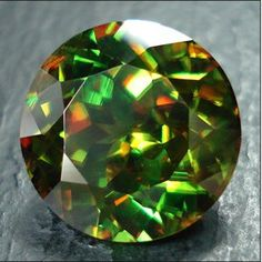"""Chrome Sphene,"" 10.79 cts. © ARK Rare Gems."