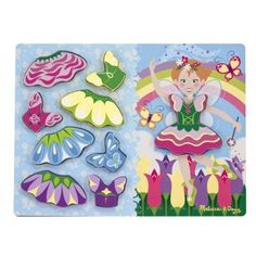 Melissa & Doug Fairy Dress Up Wooden Chunky Puzzle Mix and Match Jigsaw . Buy Quality Toddler Toys From Green Ant Toys Online Toy Shop. Toddler Toys, Kids Toys, 2nd Birthday Gifts, Mix And Match Fashion, Princess Dress Up, Melissa & Doug, Fairy Dress, Learning Through Play, Wooden Puzzles
