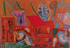 """""""Atelier"""" Pastelli a olio su carta 48x33"""