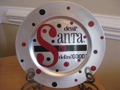 Christmas Charger Plate with Vinyl by TheSaltyKiss on Etsy