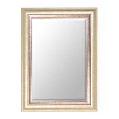 Antique Silver Braided Framed Mirror 34x46