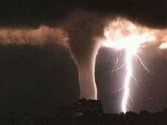tornados are associated with electrical storms. scientists have been arguing for years as to whether storm electricity helps spawn tornados and whether electrical effects are important attributes of the funnels. All Nature, Science And Nature, Amazing Nature, Easy Science, It's Amazing, Tornados, Thunderstorms, Natural Phenomena, Meteorology