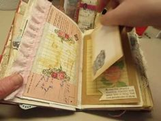 JUNK JOURNALS - Homemade tags, pockets, and embellishments for junk journals, etc. - YouTube