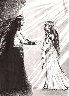 Hades and Persephone by Puistopulu.deviantart.com on @deviantART