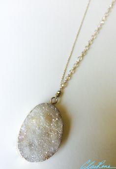 #druzynecklace #druzypendant #druzy #necklace #handmadenecklace #handmadejewelry #jewelry #gold #goldchain #wirewrapped #crystal #crystalbeads #goldcrystal #goldcrystalbeads #pyrite #goldpyrite