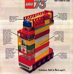 A three decker ambulance back in 1973. Built by Maria, 5 yrs. (in 2012, she's 44 yrs. old)