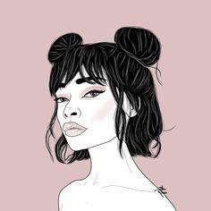 #illustration #digitalart #sketch #pink Digital Art, Sketch, Female, Illustration, Pink, Illustrations, Sketch Drawing, Sketches, Pink Hair