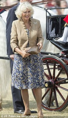 The Duchess of Cornwall had matching heels and wore a butterfly brooch to the Sandringham Flower Show on the Queen's Estate today -- 30 July 2014 Royal Princess, Princess Charlotte, Princess Diana, Celebrity Moms, Celebrity Style, Celebrity Photos, Womens Institute, Camilla Duchess Of Cornwall, Camilla Parker Bowles