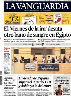 Los Titulares y Portadas de Noticias Destacadas Españolas del 17 de Agosto de 2013 del Diario La Vanguardia ¿Que le pareció esta Portada de este Diario Español?