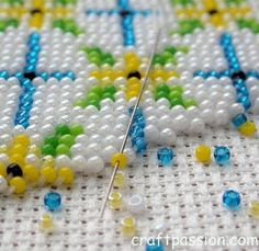 beaded cross stitch patterns | Kasut Manek (Beaded Shoes) | Free Pattern & Tutorial at CraftPassion ...