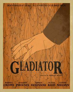 Gladiator Minimalist Movie Poster / Movie by EntropyTradingCo