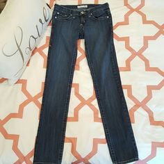 """Flying Monkey Dark Wash Straight Leg Jeans 7 Great pair of Flying Monkey Jeans that are in great shape! Great color. Fitted. 32"""" inseam. Size 7 I love offers! Flying Monkey Jeans Straight Leg"""