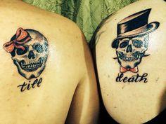 Matching tattoo by @skullinkmty.