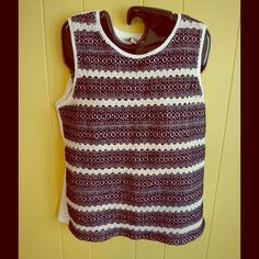 NICE Lucky Brand top size Medium! Lucky Brand shirt size Medium! SO nice!! Aztec stitching with see through rows in between. (see last pic) Excellent condition! ALL prices are negotiable! Bundle 2 or more items and save 20%!!! Lucky Brand Tops Tank Tops