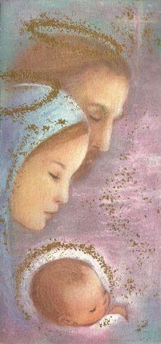 Vintage Nativity Christmas Card