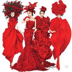 Fashion Design Portfolio, Fashion Design Sketches, Couture Fashion, Fashion Art, Dress Fashion, Paper Fashion, Fashion Illustration Dresses, Fashion Illustrations, Fashion Figures