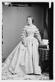 Miss Combs,  c.1860's   oh the ruched sleeves