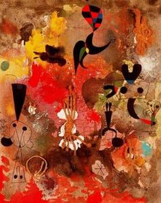 Joan Miro---would love any of their artwork in a baby's room. Hieronymus Bosch, Pablo Picasso, Spanish Painters, Spanish Artists, Joan Miro Pinturas, Abstract Expressionism, Abstract Art, Abstract Landscape, Joan Miro Paintings