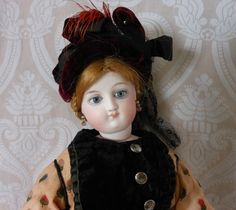 Fabulous Bru Poupee Bois Fashion Doll with Bisque Head and Articulated Wood Body