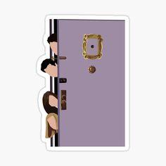 Preppy Stickers, Cute Laptop Stickers, Chandler Bing, Friends Cast, Friends Show, Door Stickers, Printable Stickers, Guitar Stickers, Friends Sketch