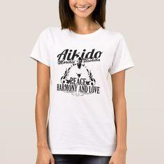 Aikido Peace, Harmony and Love Female Camiseta