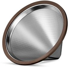 """Osaka Stainless Steel Pour Over Cone Dripper, Reusable Coffee Filter for Osaka, Chemex, Hario, Carafes and More """"To-ji"""" -- For more information, visit image link."""
