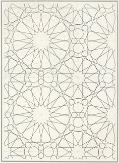 Pattern in Islamic Art - BOU 132 moorish arabesque moroccan muslim geometric tile design