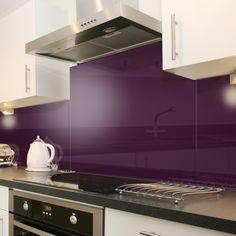 Deep Purple - Colour Glass Splashback 70cm x 50cm -